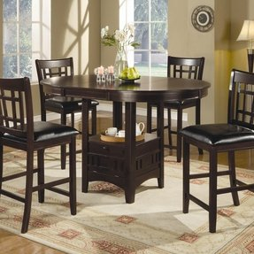 Modern Black And White Dining Set