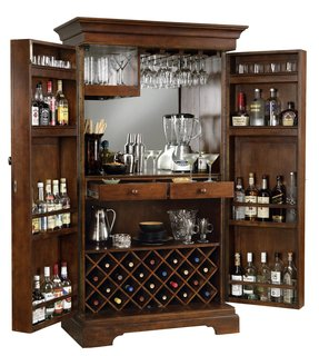 Home bar with refrigerator space