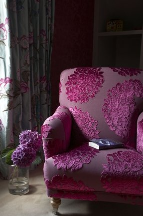 Hot Pink Velvet Chair