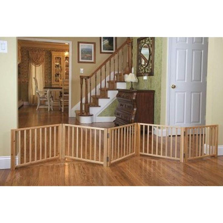 Ordinaire Indoor Pet Fence Free Standing Walk Over Panel Wood Folding
