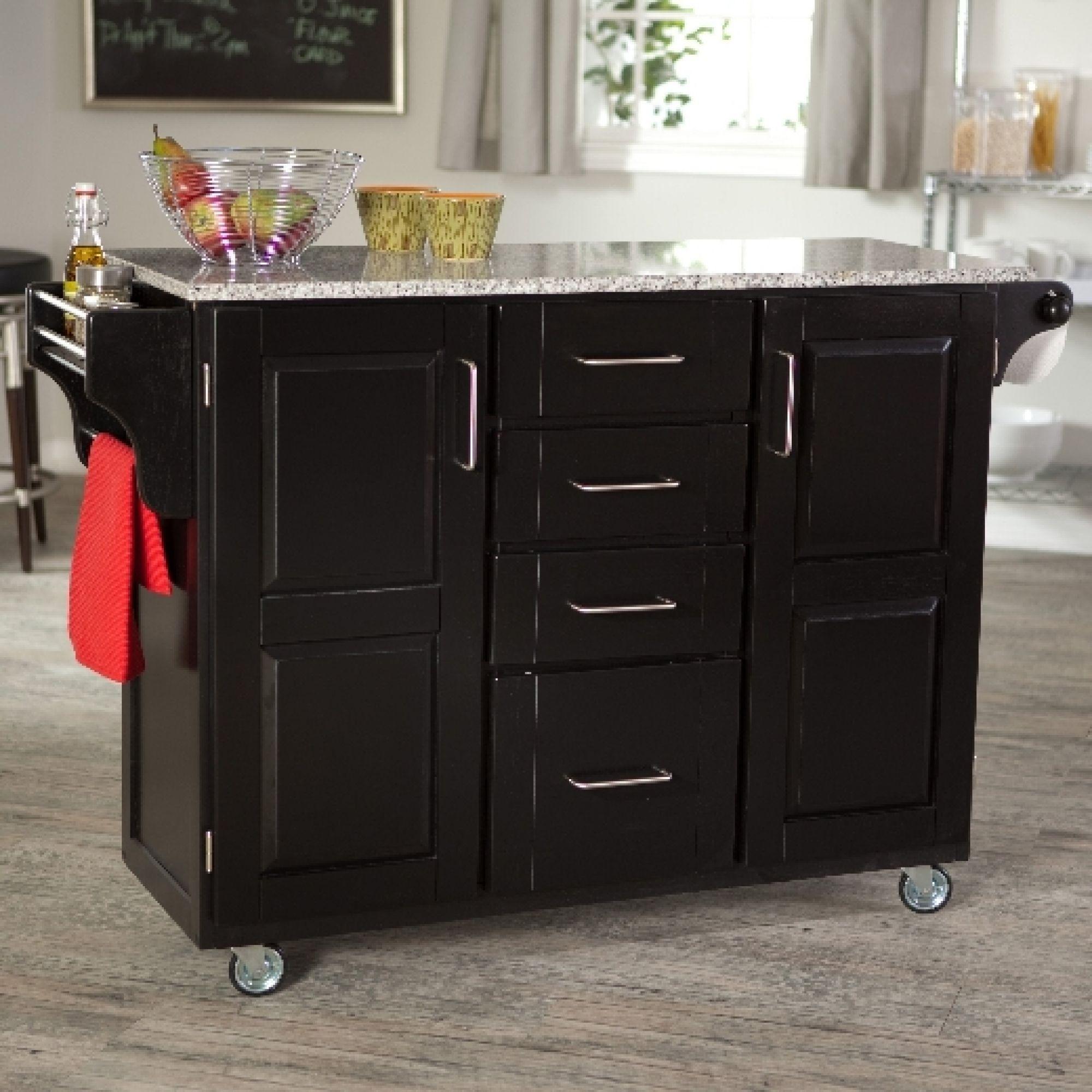 Kitchen Island Cart Granite Top 1