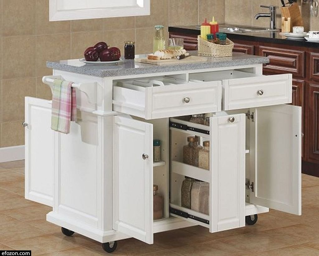 Bon Kitchen Island Cart Granite Top 25