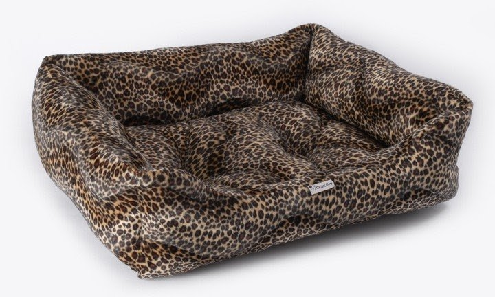 Leopard print dog bed 2