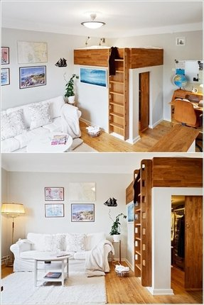 Loft bed with bed underneath 1