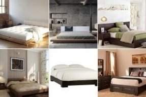 Low profile king bed