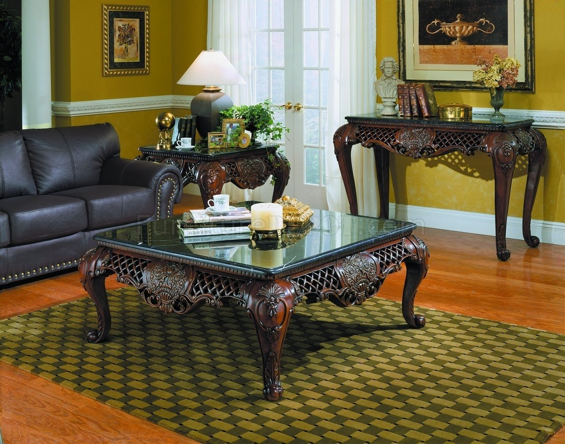 Marble top coffee table sets 1 & Marble Top Coffee Table Sets - Foter