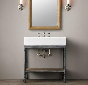 Metal console sink
