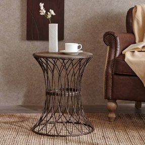 Metal round end table 11
