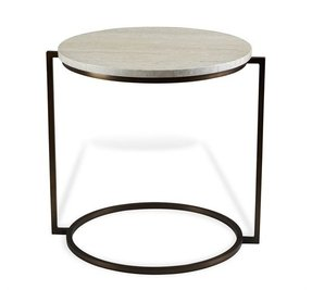 Metal round end table 15