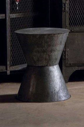 Metal round end table