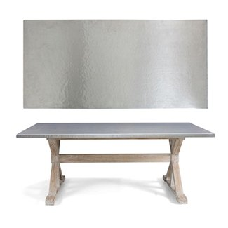 Metal top dining table