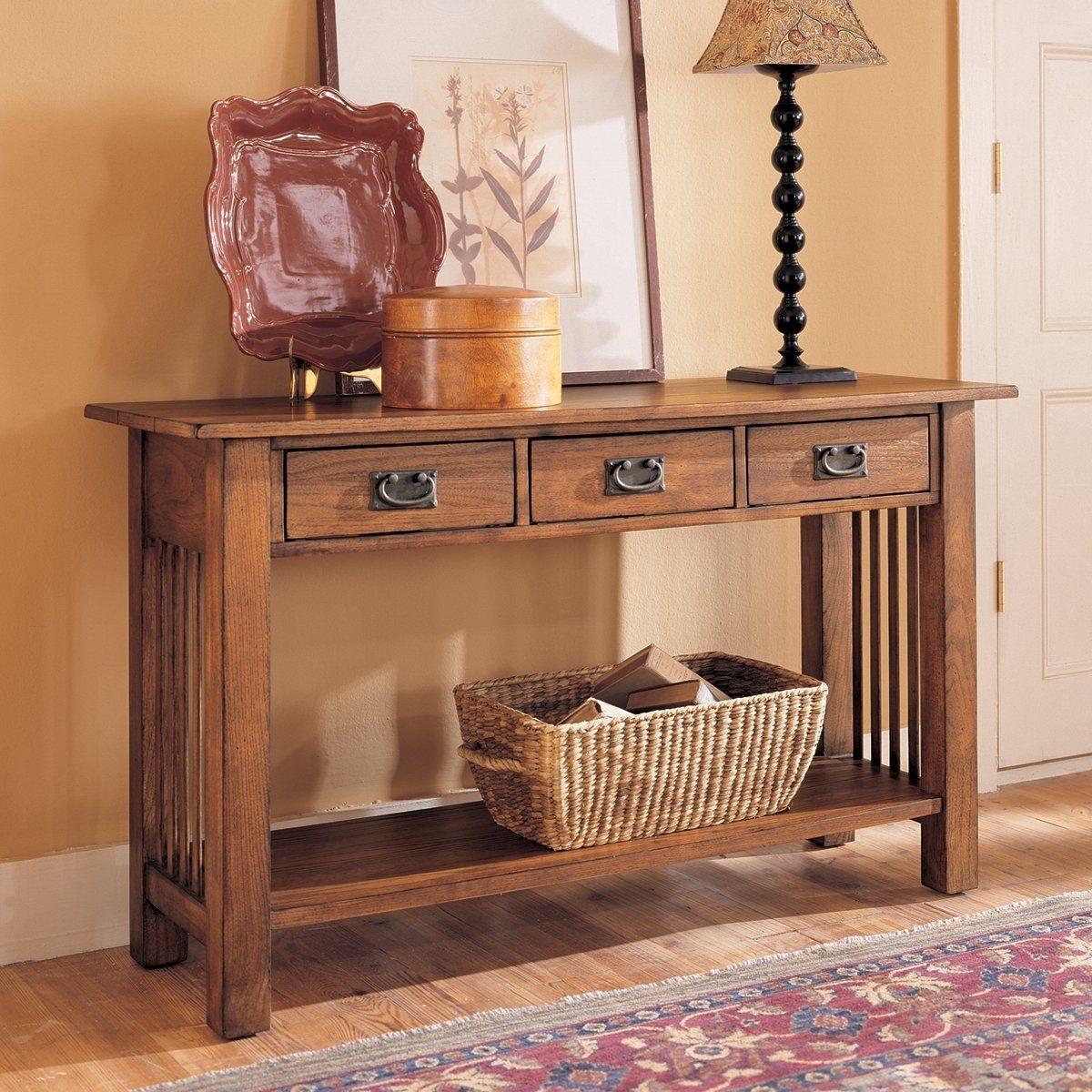 Mission Oak Sofa Table 1