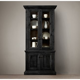 Narrow china cabinet