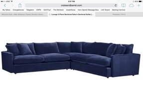 Navy blue sectional sofa 1