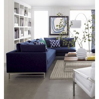 Navy Blue Sectional Sofa - Ideas on Foter