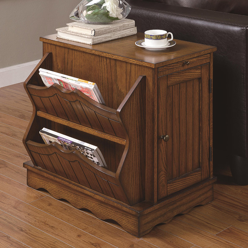 Oak End Tables With Storage Foter