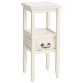 Pedestal side table white