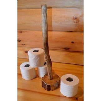 Pipe paper towel holder
