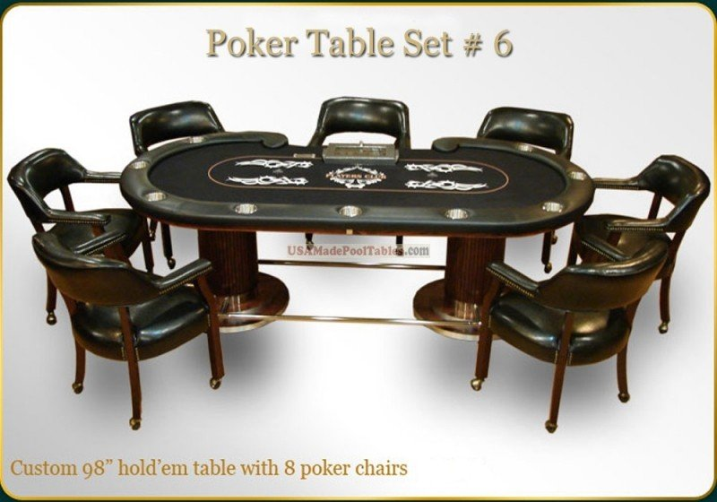 Poker table chairs set meuble bas sur roulette ikea