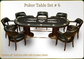 Poker table sets