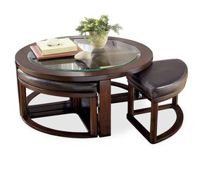 Round Coffee Table With Stools Foter
