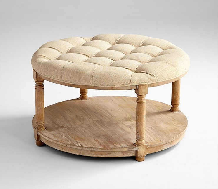 Exceptionnel Round Tufted Coffee Table Ottoman