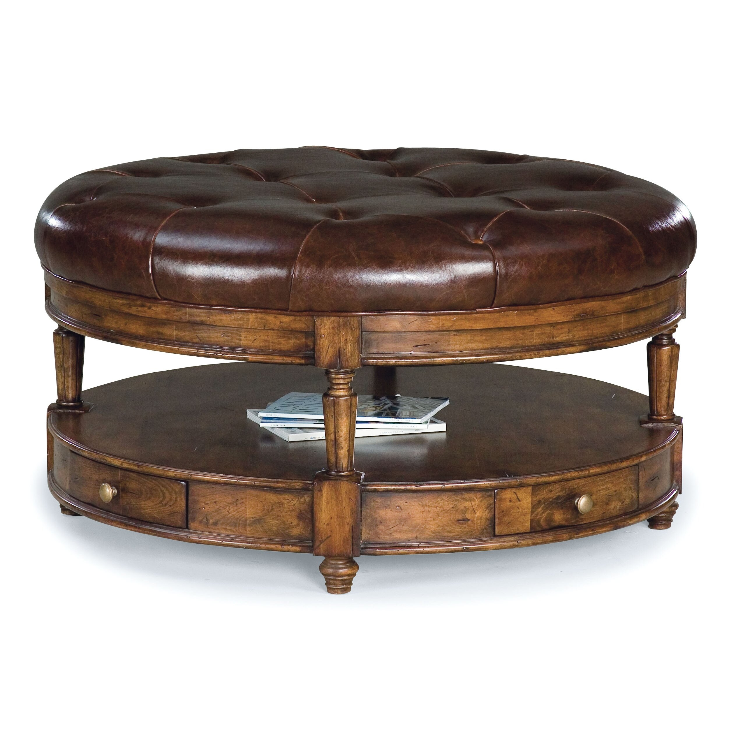 Round Tufted Ottoman Coffee Table 4
