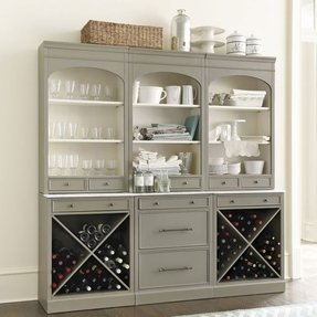 Server with wine rack