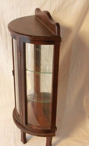 Small Glass Curio Cabinet Display Case Foter