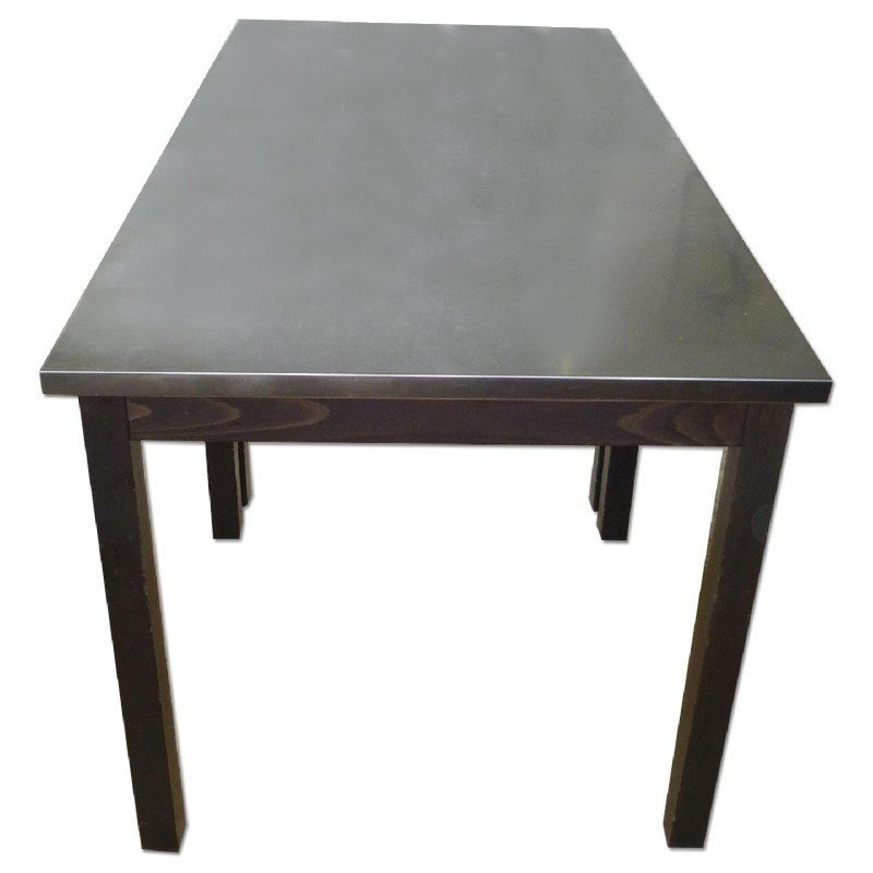 Steel top kitchen table  sc 1 st  Foter & Stainless Steel Top Dining Table - Ideas on Foter