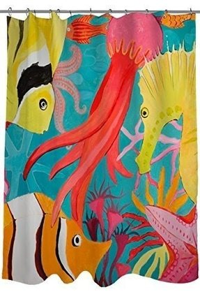 Thumbprintz Shower Curtain Deep Sea Diving
