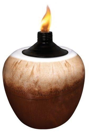 TIKI 1112101 Small Latte Ceramic Tabletop Torch