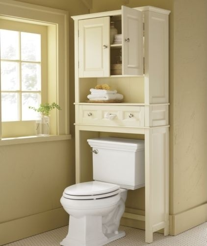 White Over The Toilet Storage