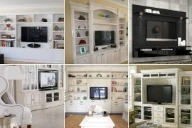 White Wall Units And Entertainment Centers
