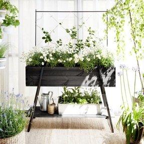 Wood Plant Stand Indoor 1