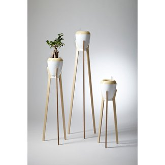 Wood plant stand indoor 2