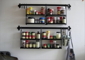 A classy really unique spice rack for the kitchen photo