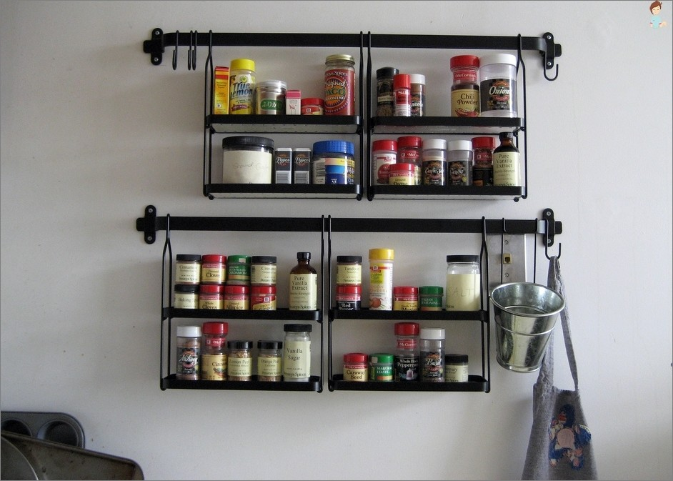 Genial A Classy Really Unique Spice Rack For The Kitchen Photo