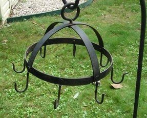 Antique hand forged wrought iron game