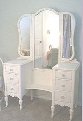 Antique White Vanity Set Foter