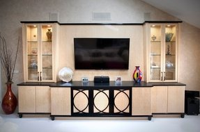 Birdseye maple entertainment center 3