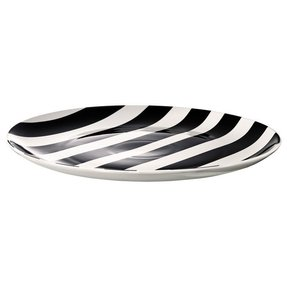 Black and white charger plates 13