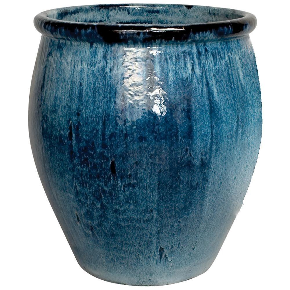 Black Ceramic Garden Pots
