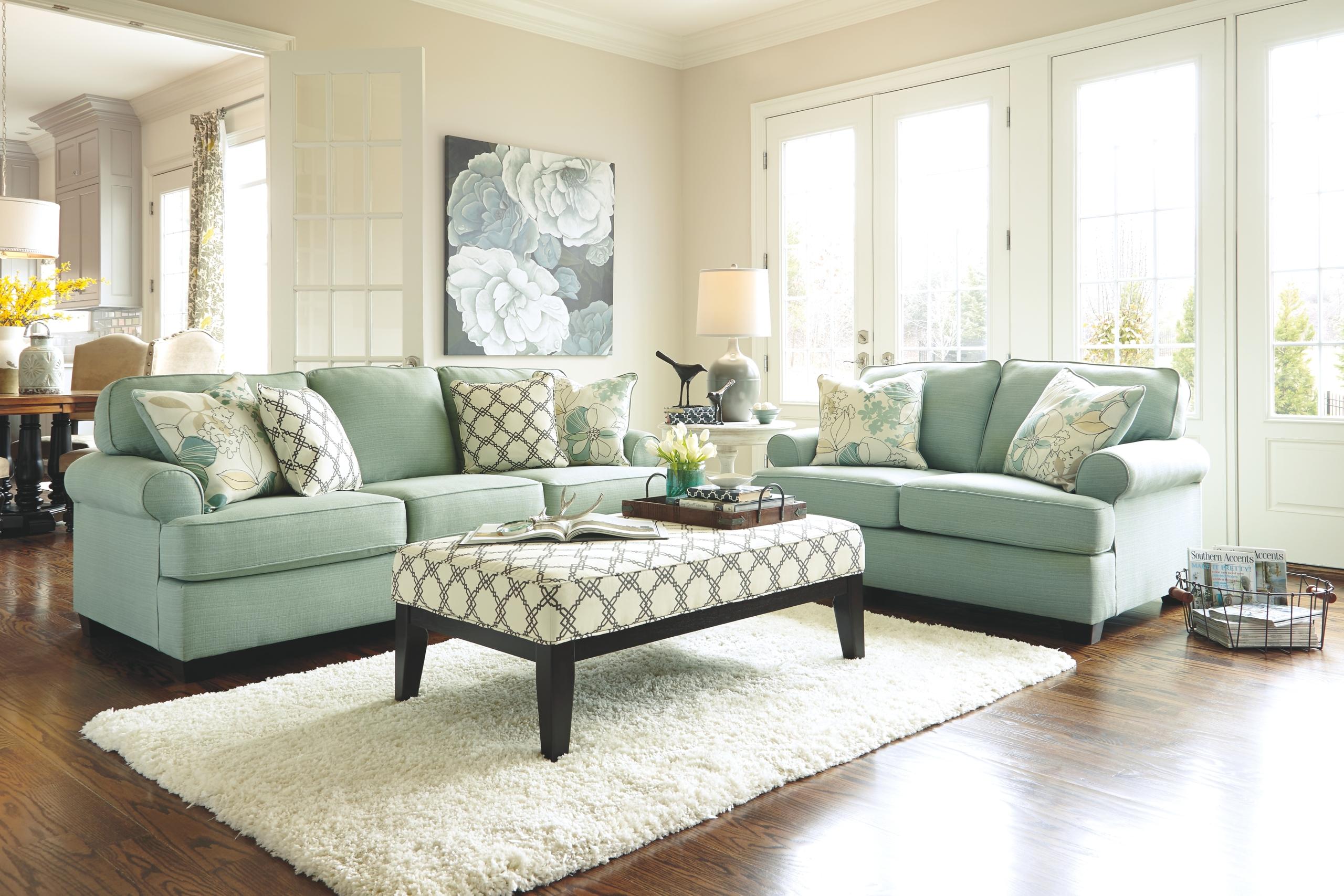 Blue Sofa Set