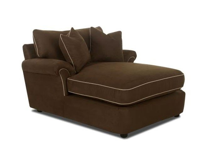 Amazing Brown Leather Chaise Lounge