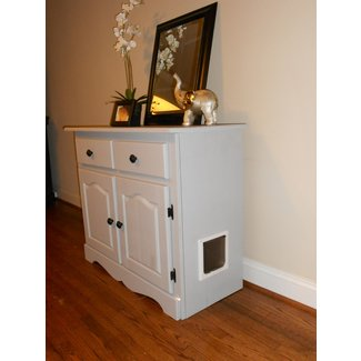 Cat Litter Box Cabinet With Drawers 5