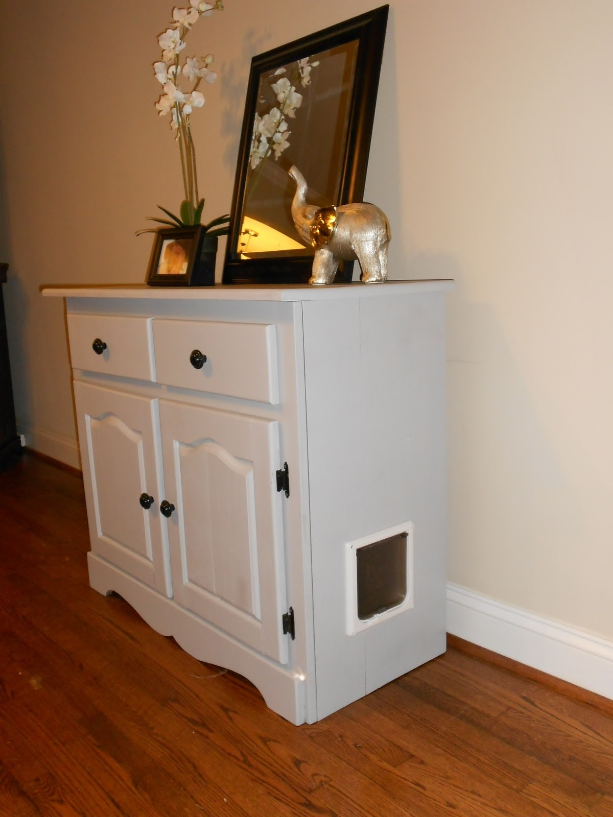 Charmant Cat Litter Box Cabinet With Drawers 5