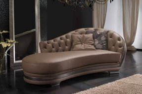 Chocolate brown chaise lounge 2