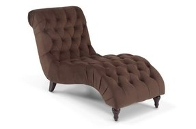 Chocolate Brown Chaise Lounge 4