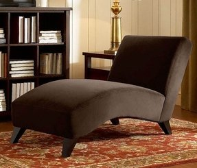 Chocolate Brown Chaise Lounge